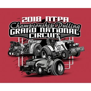 2018 GN Circuit T-shirt - Heather Scarlet Red