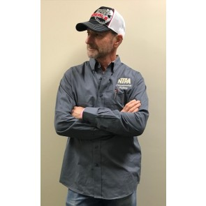 NTPA Embroidered Button-down - Steel Grey