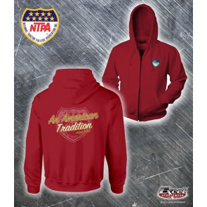 50th Anniversary Zip-Up Hoodie - Red