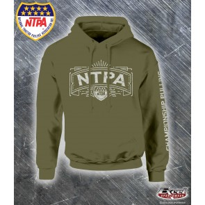 Vintage NTPA Championship Pulling Hoodie - Military Green